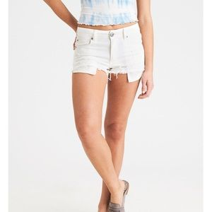 AE size 8 High-Waisted Denim Short Short